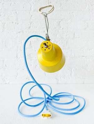 旧物改造创意灯具省钱又省料加重钻杆